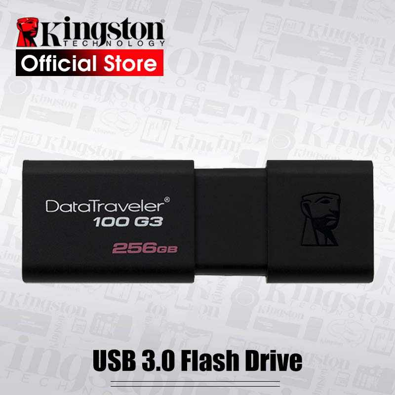 Original Kingston DataTraveler 100 G3 USB Flash Drives 1256GB USB 3.0 Pen Drive high speed PenDrives DT100G3 256gb