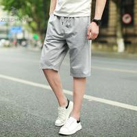 ZEESHANT Boxers Cotton Men Casual Loose Shorts Home Wear Sleep Bottoms Breathable Summer Beach Joggers Trousers