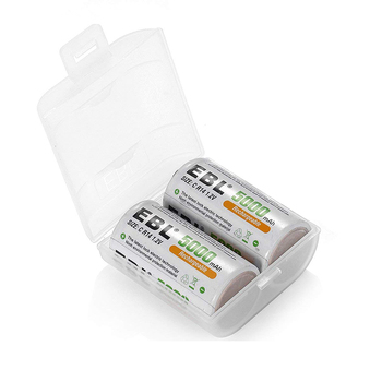 EBL C size 2pcs Rechargeable battery 5000mAh Battery for screwdriver high Performance NI-MH  Battery for digital camera Rechargeable Batteries
