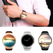 Bluetooth KW18 Smart Watch Connected WristWatch for Samsung HTC Huawei LG Xiaomi Android Smartphones Support Sync