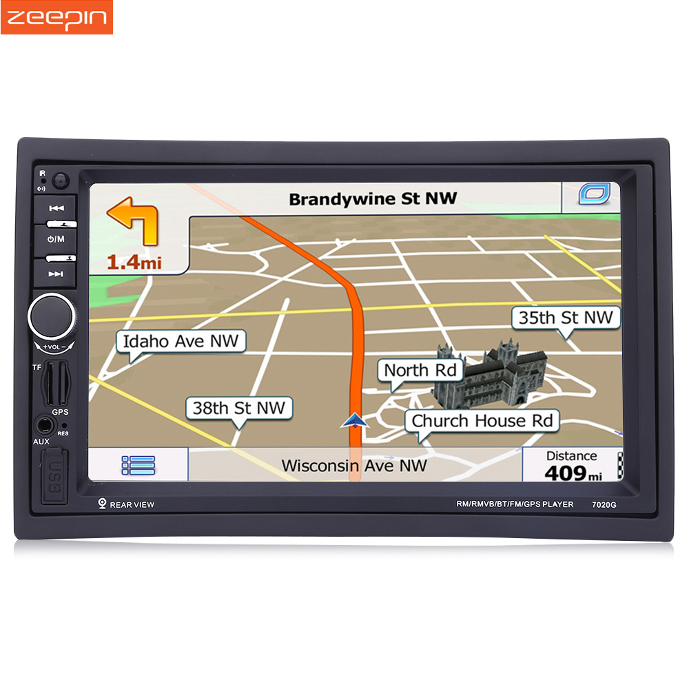 2din Autoradio Lecteur GPS Navigation Volant de Soutien À Distance Bluetooth FM Arrière Vue Caméra qui Doit Acheter Séparément