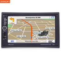GPS Navigation Car MP5 Player Steering Wheel Remote Control Bluetooth FM 7 Touch Screen 2 Din