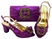Hot Artist Shoes And Handbag Set African Set Italian Shoes With Matching High Quality Women Bags