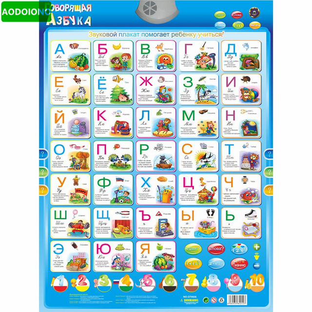 Russian Language Learning Baby Education Learning Machine Toy - phonics alphabet chart
