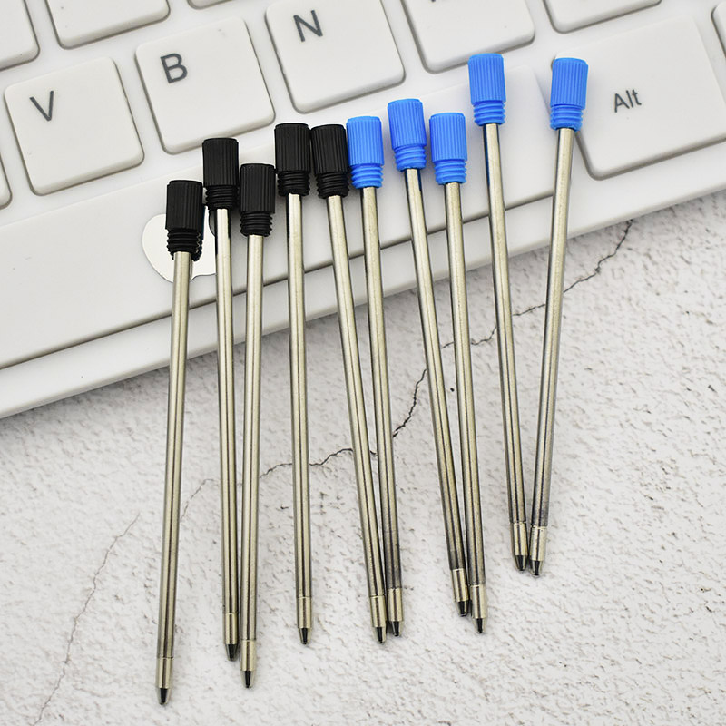 10 pcs lot 0 7mm Metal Ball Pen Special Refills For Diamond Crystal Pen 7cm Length Wholesale Office School Students Stationery in Pen refill from Office School Supplies