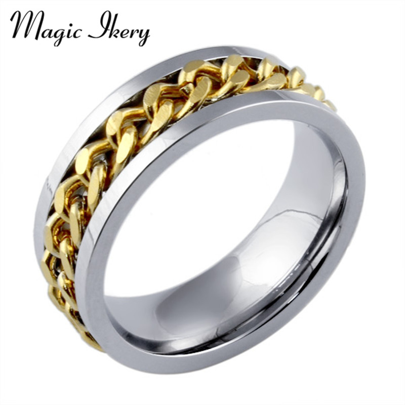 464be108d246 Magic ikery titanio joyas personalidad Acero inoxidable giratorio anillo  joyería al por mayor para los hombres del encanto MR-016