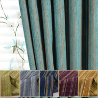 [byetee] Modern Chenille Stripe Kitchen Blackout Curtains Doors For Bedroom Living Room Curtains Window Curtain Fabrics Drapes