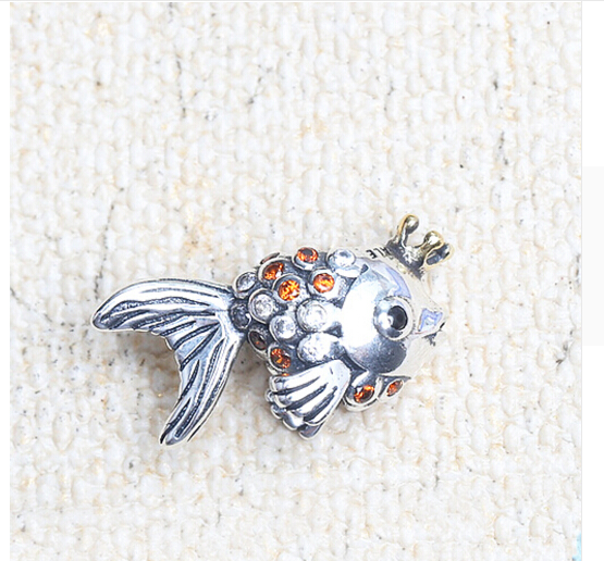 New jewelry fits pandora bracelet authentic 925 sterling for Pandora fish charm