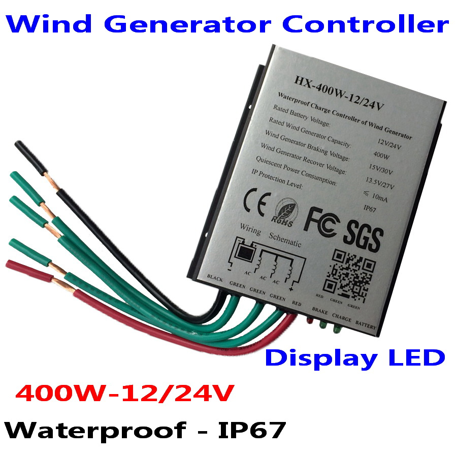 400W 12V 24V Wind Turbine Generator Charge Controller Waterproof IP67 Wind Controller Wind Generator Controller
