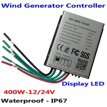 400W 12V/24V Wind Turbine Generator Charge Controller Waterproof IP67 Wind Controller Wind Generator Controller 800w wind turbine generator 24v 48v 2 5m s low wind speed start 3 blade 1050mm with ip 67 charge controller
