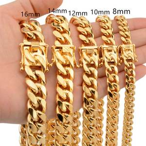 Qmzchentrendy Stainless Steel Chain Necklaces Mens jewelry