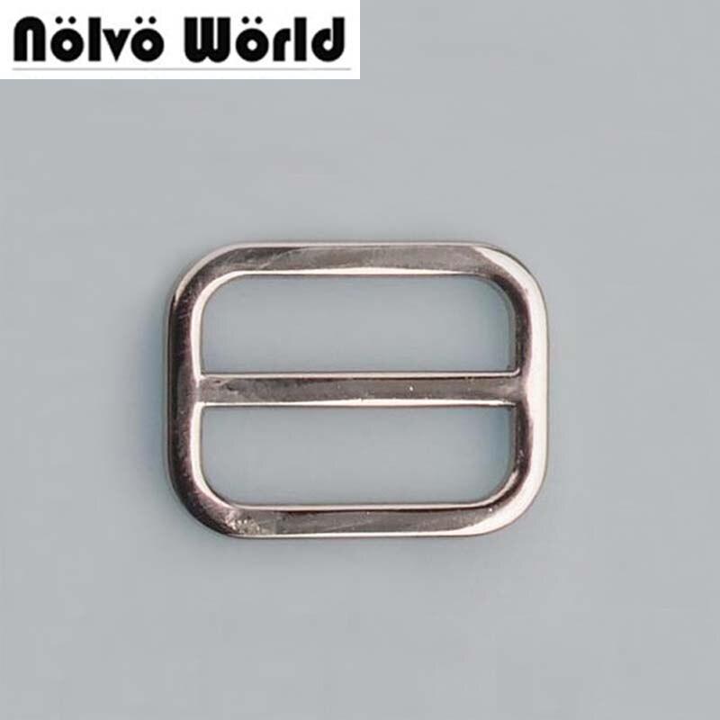 50pcs 5 Colors 25mm 1 Inch Cast Solid Square Edge Alloy Suspenders Slider Tri-glide Metal