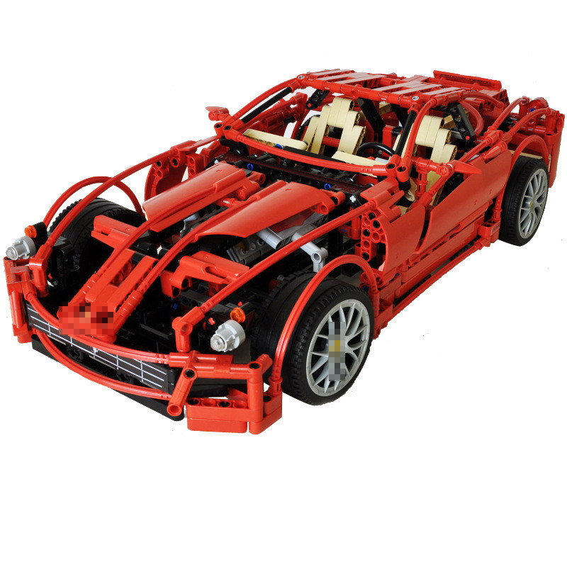 DECOOL Technic Racers 599 GTB Fiorano Car Building Blocks Set Bricks Classic City Model Kids Toys Gift Marvel Compatible Legoe mjx радиоуправляемая модель ferrari 599 gtb fiorano масштаб 1 20