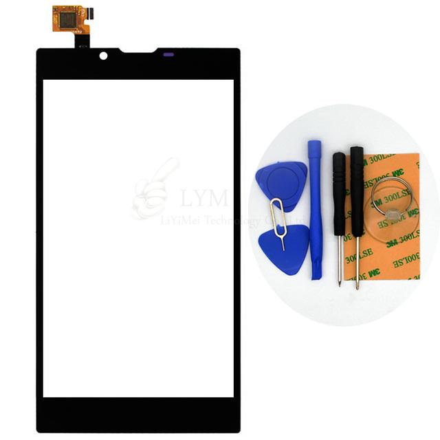 """Preto tp para archos 55 platinum 5.5 """"sensor nenhum smartphone lcd substituição do painel de vidro digitador da tela de toque frete grátis + ferramentas"""