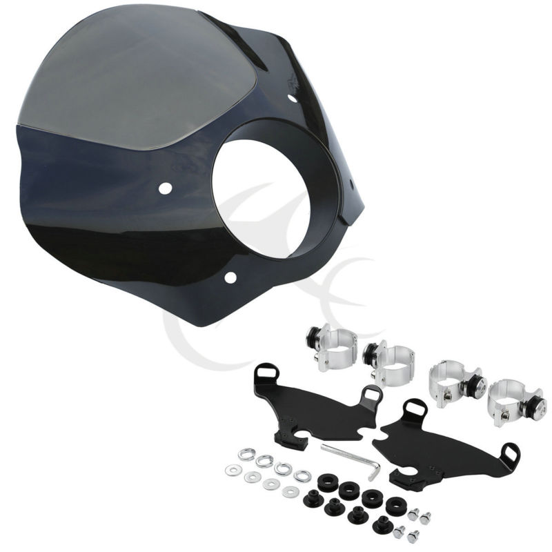 Gauntlet Fairing & Lock Mount Kit For Harley Dyna Super FXDL Sportster XL883L 1200X FXD/FXDC/FXDL/FXDB/FXD tcmt motorcycle gauntlet fairing 49mm mounting kit for harley dyna super glide custom low rider street bob fxd fxdc fxdl fxdi35