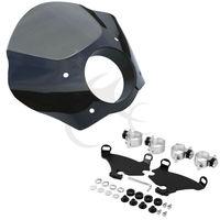 TCMT Gauntlet Headlight Fairing Mask W Lock Mounting For Harley Dyna Model FXDL Sportster XL883L 1200X