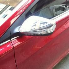 Для 2010- hyundai Solaris ABS Хромированная дверь боковое крыло Зеркальное Покрытие половина объемное зеркало заднего вида защитные крышки аксессуары