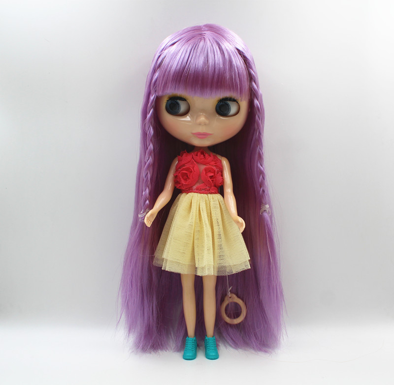 Free Shipping big discount RBL-442 DIY Nude Blyth doll birthday gift for girl 4colour big eye doll with beautiful Hair cute toyFree Shipping big discount RBL-442 DIY Nude Blyth doll birthday gift for girl 4colour big eye doll with beautiful Hair cute toy