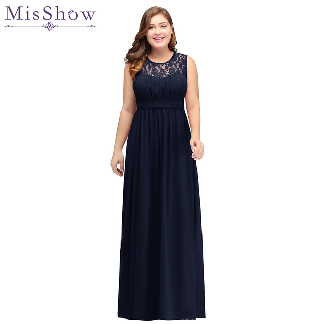 f6fd4f3b70 Navy Blue 2018 Mother of the Bride Dresses plus size Chiffon Dress Elegant  sleeve Lace Evening Dresses Groom Mother Bride Gown