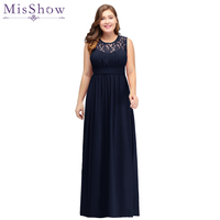 Navy Blue 2018 Mother of the Bride Dresses plus size Chiffon Dress Elegant sleeve Lace Evening Dresses Groom Mother Bride Gown