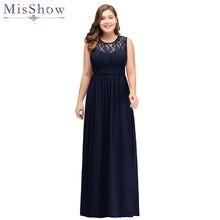 6403afb92 2019 azul marino de la madre de la novia vestidos plus tamaño vestido de  gasa elegante manga Vestidos de Noche de encaje de novi.