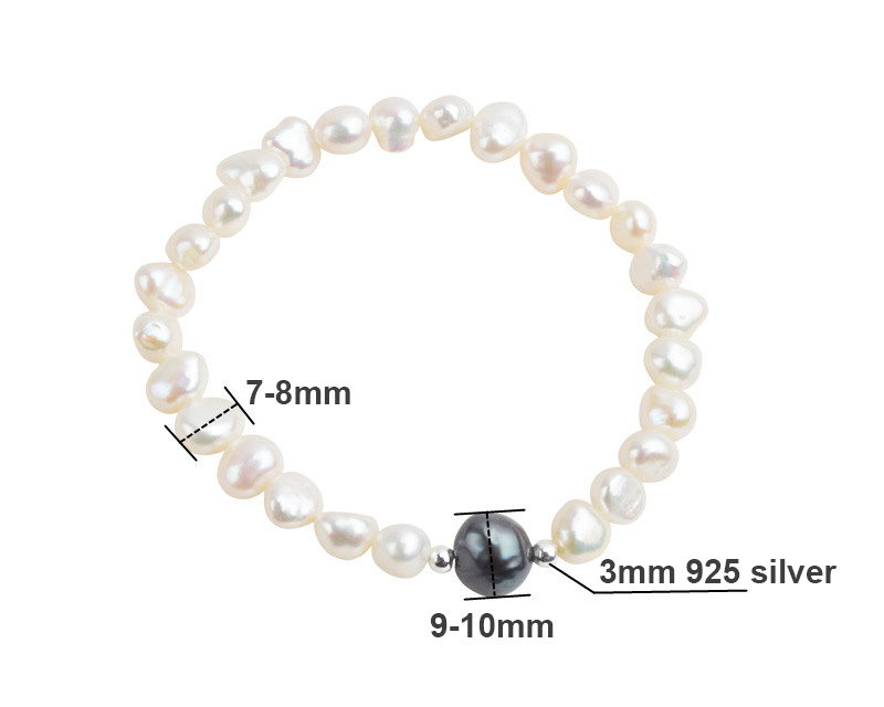 HTB1nSukMhjaK1RjSZFAq6zdLFXaM ASHIQI Real Freshwater Pearl Jewelry set for Women with Pure 925 Sterling Silver Beads Handmade Necklace Bracelet Bridal Gift