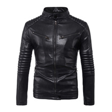 Men Jacket Winter 2018 New Fashion Autumn Leather Brand Clothing Motorcycle Quality Male Coat