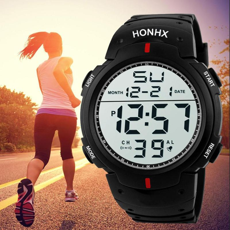 Модные Для мужчин Водонепроницаемый спортивные часы цифровой светодио дный электроники Наручные часы