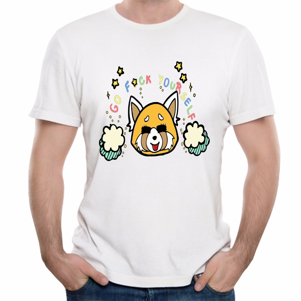 Aggressive Retsuko Tees Popular Cartoon Aggretsuko T Shirt Casual Breathable Cotton T-shirt For Man Big Size