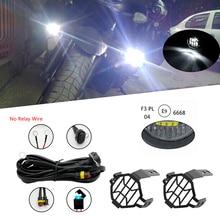40 Вт мотоциклетные светодио дный вспомогательный противотуманных фар Наборы пятна вождения лампы с защиты охранников жгут проводов для BMW R1200GS F800GS