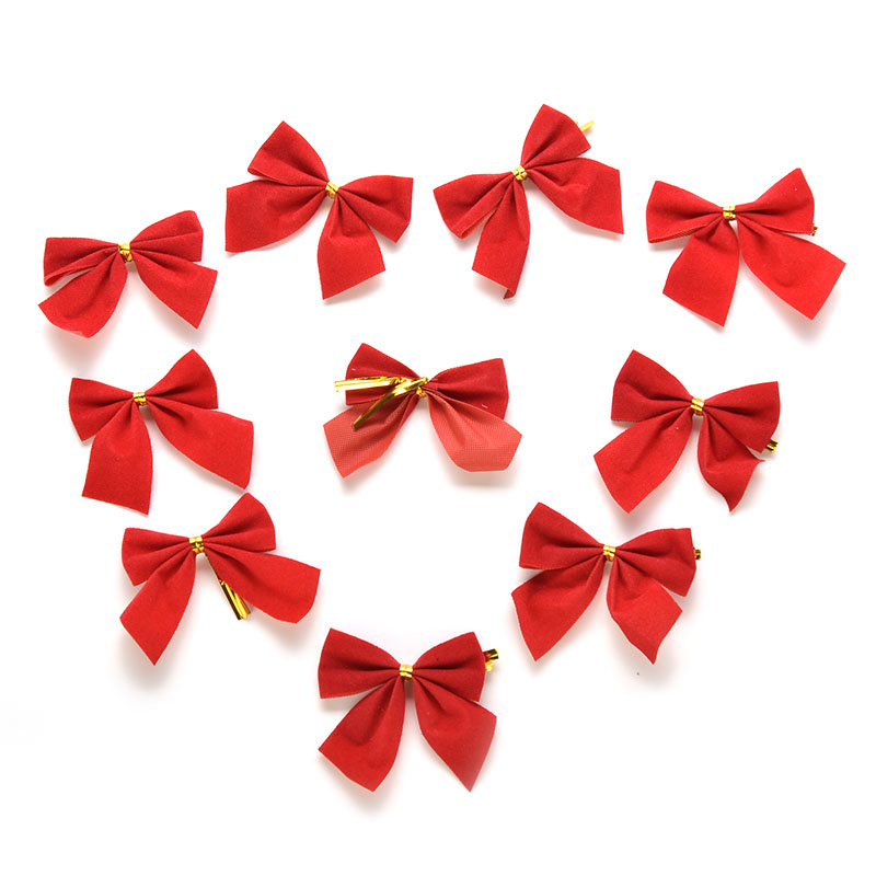 Christmas Tree Bows Decorations: 12PCS Christmas Tree Bow Decoration Baubles Red Bowknot