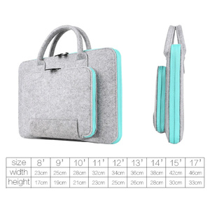 Image 5 - Wool Felt Laptop Bag For Mac 11 13 15 17 Mouse Bags Briefcase for Macbook Air Pro Retina For Lenovo Notebook Sleeve Case