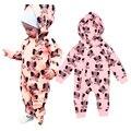 2016 elefante Jumpsuit do bebê dos desenhos animados impresso bebê recém-nascido menino ropmer meninos das meninas do bebê roupas de alta qualidade meninas Romper do bebê recem