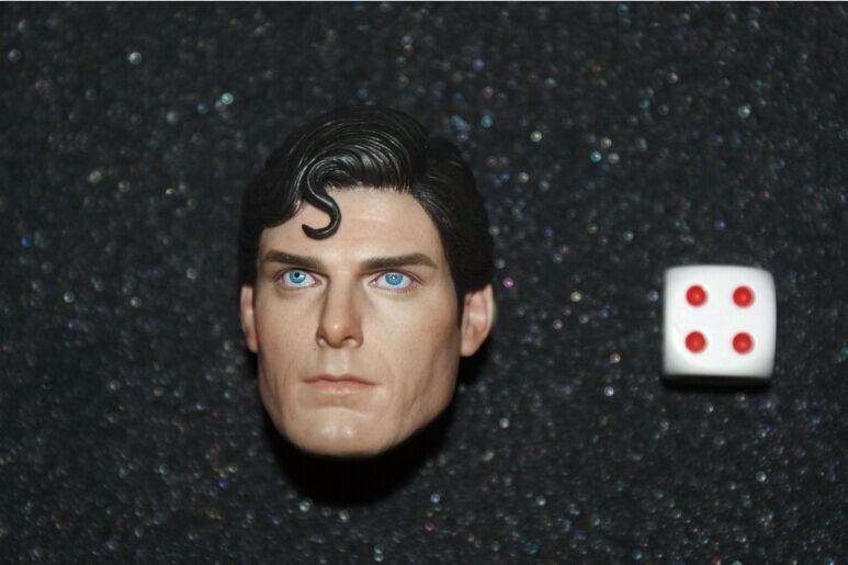 1/6 Superman Male Head Sculpts Model Toys Christopher Reeve 1978 Head Carving Model For 12