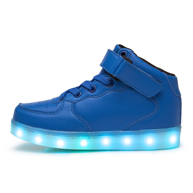 цены 2018 USB Charging Led luminous Shoes For Boys girls Fashion Light Up Casual kids Sole Glowing Children Sneakers Free shipping