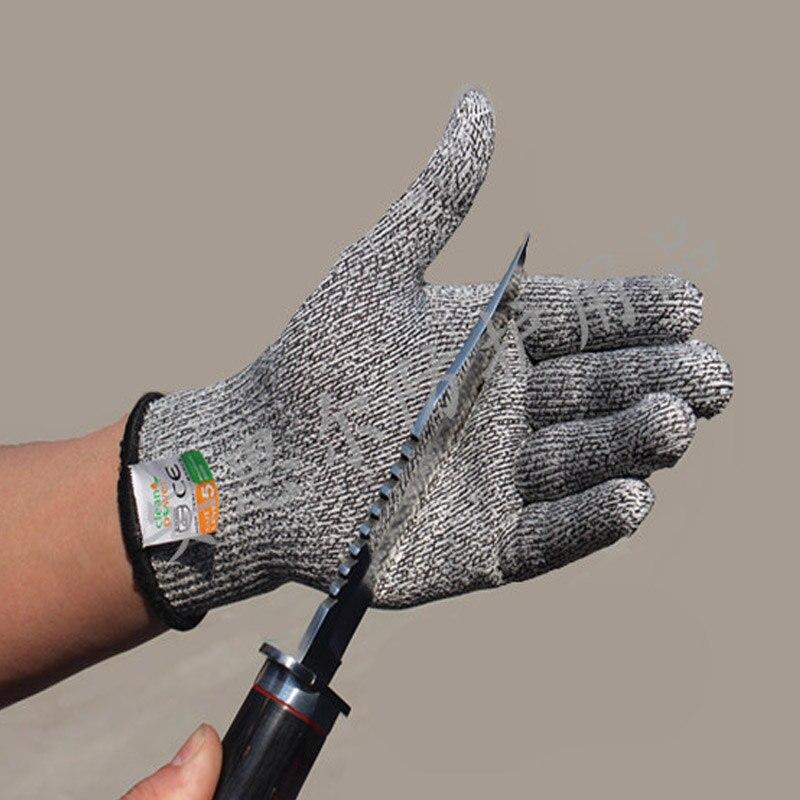 Gerade 1 Paar Sicherheit Schutz Metzger Sicherheit Arbeit Handschuhe Nicht-slip Selbstverteidigung Tragen Beständig Anti Cut Außen Heavy Duty Küche Bekleidung Zubehör