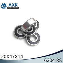 6204RS Bearing ABEC-3 (2 PCS) 20x47x14 mm Deep Groove 6204-2RS Ball Bearings 6204RZ 180204 RZ RS 6204 2RS EMQ Quality