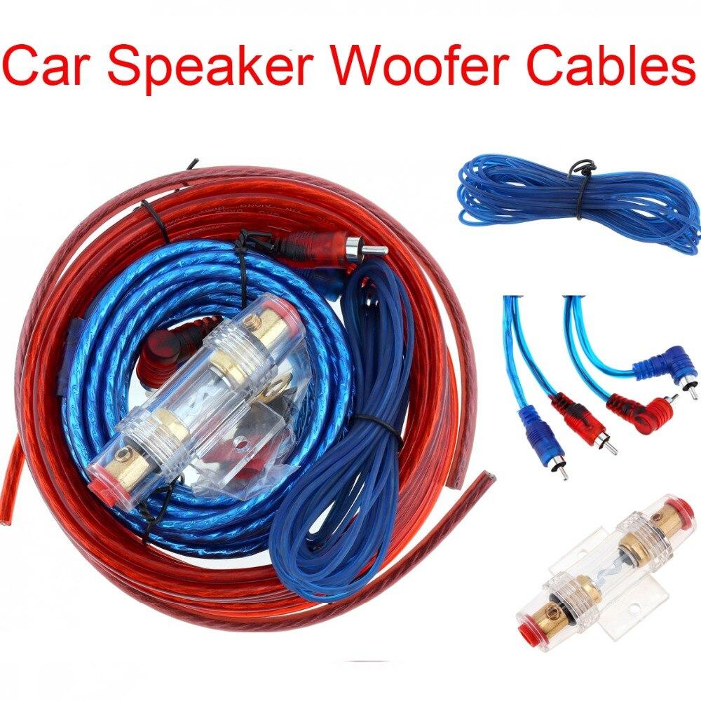 1 Set Of Car Power Amplifier Car Speaker Woofer Cables Car Power Amplifier Audio Line+Power Line Suit Nibbler