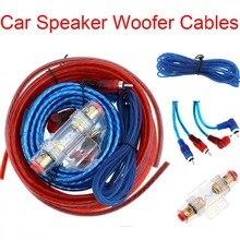 1 Set Of Car Power Amplifier Speaker Woofer Cables Audio Line+Power Line Suit