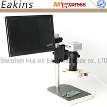 Discount! 16MP 1080P HDMI USB Digital Industry Video Microscope Camera TF Card Video+C-mount Lens+56 LED Light+Stand+10.1″ IPS Monitor