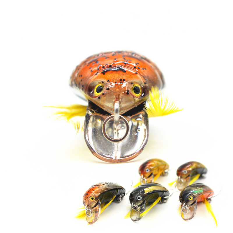 Top Grade Japan Beetle Fishing Lure Crankbait Freshwater Pesca Isca Artificial Insect Bait Wobbler Fishing Tackle 3.5cm 4g
