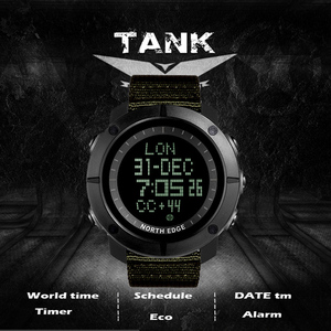Image 5 - NORTH EDGE Mens sports Digital watch Hours for Running Swimming military army watches water resistant 50m stopwatch timer