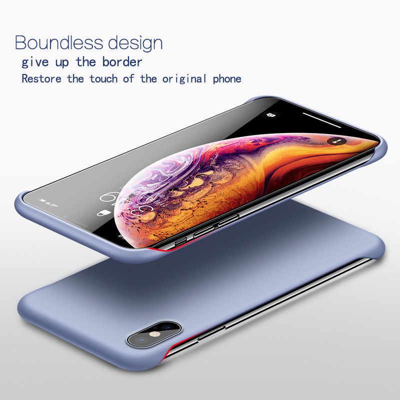 Coque de téléphone rigide sans cadre Lovebay pour iphone 11 6 6S 7 8plus XR X XS 11 Pro Max couverture mate solide dos sans bordure