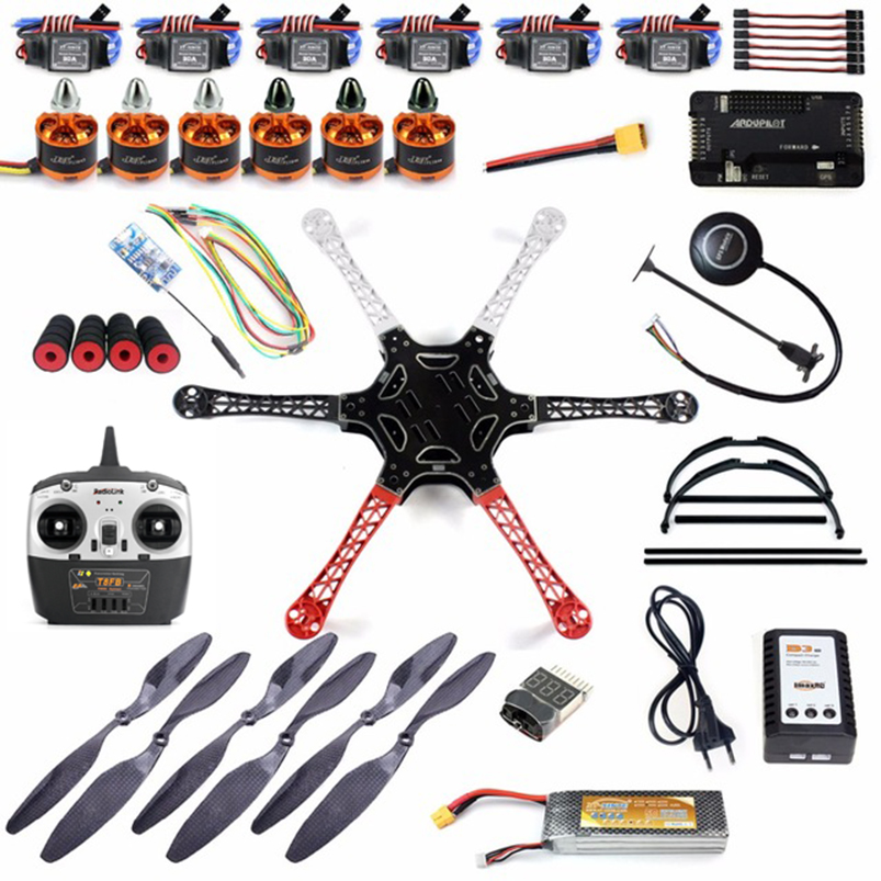 DIY Kit 2 4GHz 6 Axle RC Drone Quadcopter F550 Hexa Rotor Frame Kit with APM
