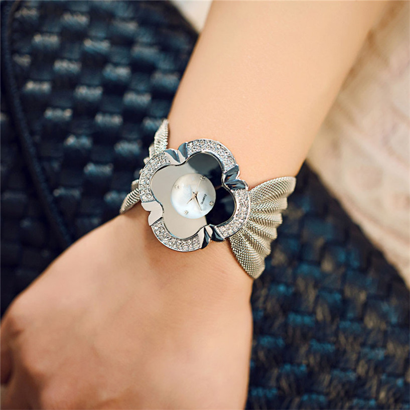 #1 Best Deal Fabulous Lady Diamond Bracelet Quartz Watch 12