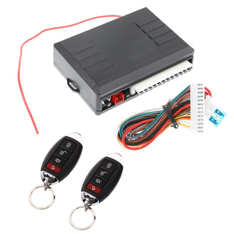 12V Alarm Systems Car Vehicle Burglar Alarm Central Door Lock Keyless Entry Security System With Remote Controller Universal New