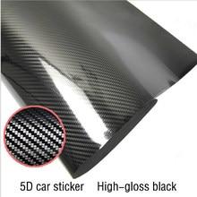 50x200cm 5D High Glossy Fibra De Carbono Envoltório de Vinil Film Car Styling Motocicleta Car Styling Acessórios Interior De Carbono filme fibra