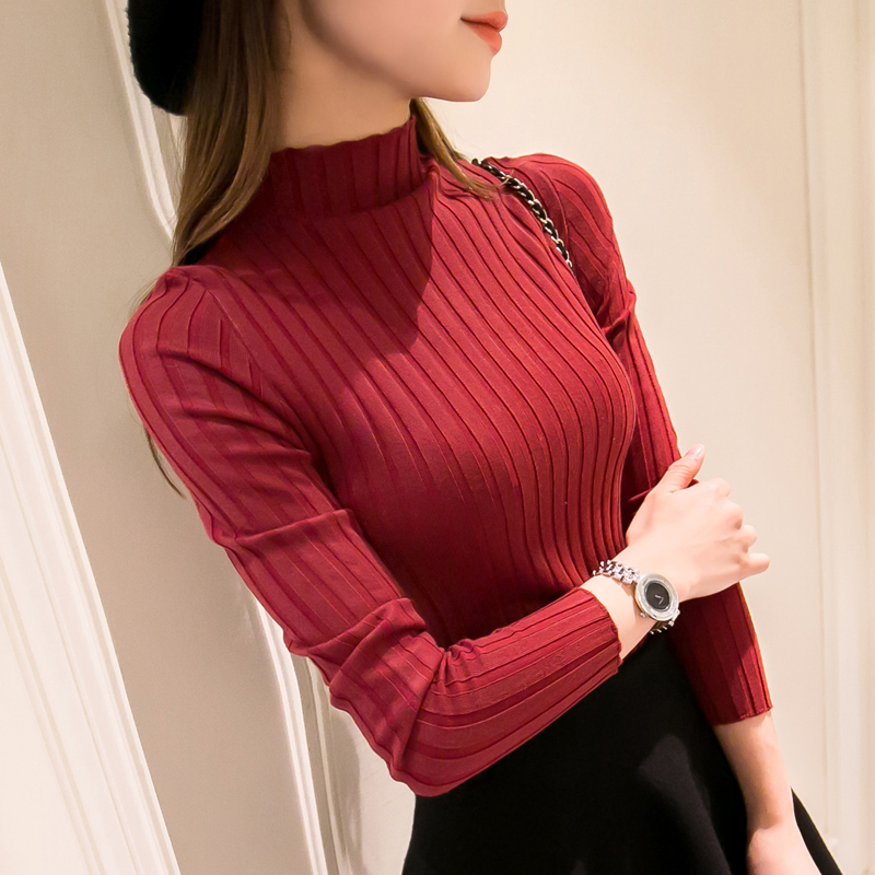 OHCLOTHING 2019 Rajutan Turtleneck Sweater New Fashion Musim Gugur - Pakaian Wanita