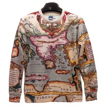 New Fashion Men/Women The world map Pullovers Funny 3d sweatshirts 3D printed Hoodies top SWT31
