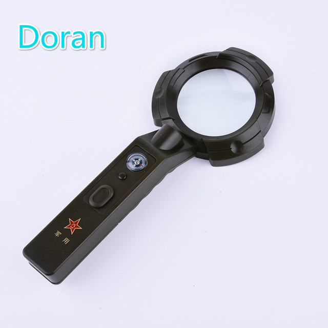 de22487c2ce3 US $19.77 5% OFF|8Led light 4X Magnifying Glass with Outdoor Camping  Compasses High Precision Multifunction Compasses Portable Packet Travel  Kits-in ...